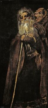 Goya_Un viejo y un fraile